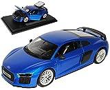 Audi R8 V10 Plus Coupe Blau Modell 2. Generation ab 2015 1/18 Maisto Modell Auto