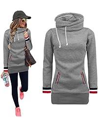 hot sale online c5c29 281b2 Amazon.it: maglia lunga donna per leggings - Grigio / Felpe ...