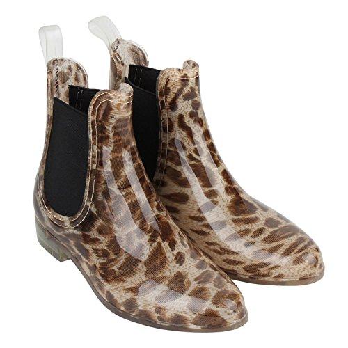 Japado - Stivali di gomma Donna Multicolore (Leopardo)