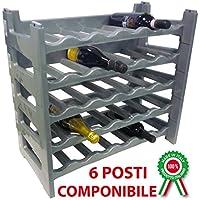 Mobile porta bottiglie cantinetta vino in legno 18 posti a botte per ...
