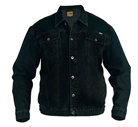 Classic Duke Denim Jackets Stonewashed and Black sizes Small to 4xl (large, Black)