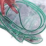 Telo da Giardino Tela incatramata PVC Grande Trasparente Telo Impermeabile 450 g/m², Telo da Campeggio Tenda Foglio di Copertura con Occhielli 0,33 mm di Spessore