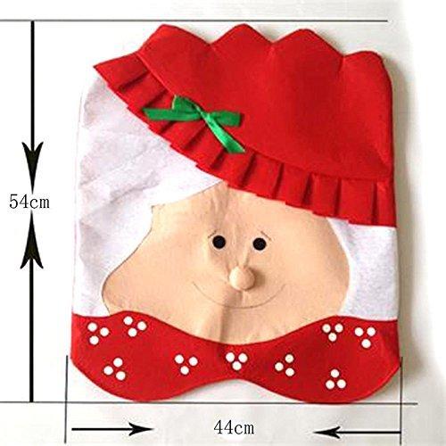 tfxwerws Creative klassischen Mrs Santa Claus Esszimmer Stuhl Bezug Weihnachten Weihnachten Dekoration (Klassische Stuhlhussen)