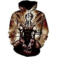 146419035fc2 Fowii Unisexe 3D Imprimer Homme Casual Sweats à Capuche avec Poche Manches  Longues Veste Sweatshirt Naruto