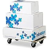 Relaxdays Socle roulant avec freins chariot à roulettes pour meubles jusqu'à 400 kg revêtement antidérapant HxlxP: 11,5 x 58 x 30 cm, noir