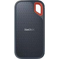 SanDisk Extreme Portable SSD externe Festplatte 1TB (SSD extern 2,5 Zoll, 550 MB/s Übertragungsraten, stoßfest, AES-Verschlüsselung,wasser- und staubfest) grau