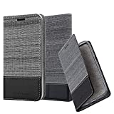 Cadorabo Book Case works with Huawei P8 MAX in GREY BLACK -