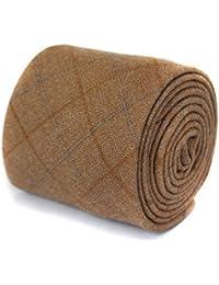 Frederick Thomas light brown tweed wool tie
