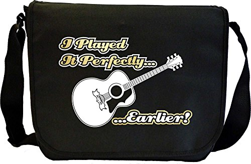 Acoustic Guitar Played Perfectly Earlier - Sheet Music Document Bag Musik Notentasche MusicaliTee