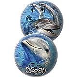 Lively Moments Kleiner Spielball / Strandball / Handball / Wasserball Ocean mit Motiv von Delfinen ca. 15 cm Ball