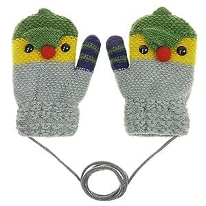 Kinder Winter Handschuhe Gloves Fäustlinge Dicke mit Plüsch Fausthandschuh Halshandschuhe Skihandschuh , 2-5 Jahre alt, Skifahren Snowboarding Spielen Laufen Bedarf