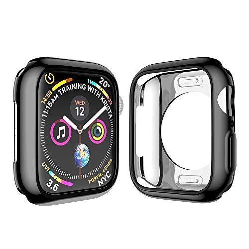 NotoCity Schutzhülle Kompatibel mit Apple Watch Series 4 Ultradünne TPU iwatch Hülle Kratzfest Schutz Displayschutz Apple Watch 4 Hülle -