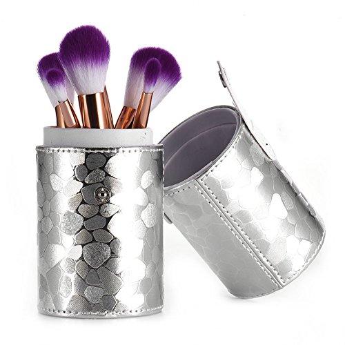 ragbarer Speicher Halter Cup Kosmetische Werkzeug Organizer Cup Mode Design Pinsel Tube Aufbewahrungstasche Molie (Make Up Tube Pro Silber)