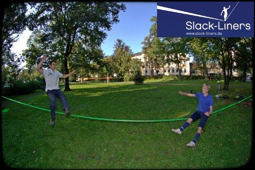 Slack-Liners Set, 15 m lang, 5 cm breit - 5