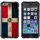 """Graphic4You Bandera Dominicana República Dominicana Vintage Grunge Diseño Flexible Antichoque Antideslizante Carcasa Funda para Apple iPhone 6 Plus / 6S Plus (5.5"""")"""