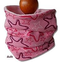 Kinder Schlupfschal Halssocke Schal Sterne rosa pink