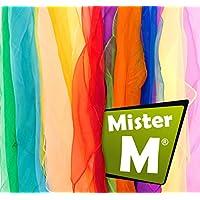 Tücher, CE Geprüft - in der EU Zusammengestellt - Rhytmik / Jonglier / Tanz Tücher mit Gratis Online Jonglier Lern Video - von MisterM