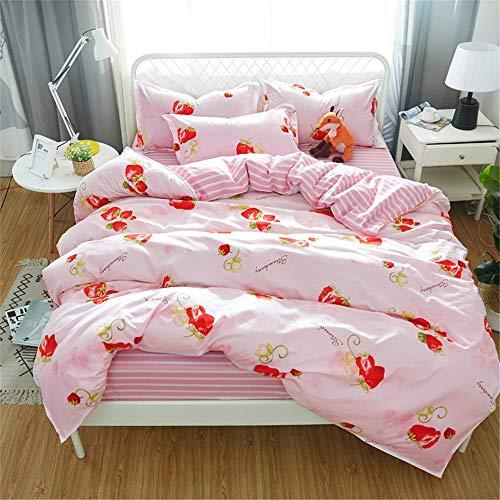 Kirsche Holz Einzelbetten (YUNSW Heimtextilien Blumen Bettbezug Bettdeckenbezug Einzigartige Bettbezüge Heimtextilien C 180x220cm)