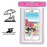 Smartphone Schutzhülle | Mobiwire Taima | Wasserdichte | Staubdichte Handy Beachbag | HBB Pink