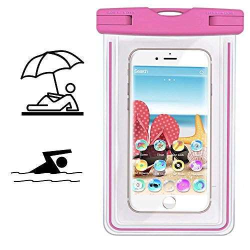 Smartphone Schutzhülle | MobiWire Ahiga | Pegasus | Wasserdichte | Staubdichte Handy Beachbag | HBB Pink