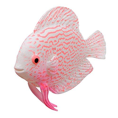 FiedFikt Künstliche Kunstfische für Aquarien, mit leuchtenden Effekten, goldfarben a