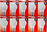 10 x OSRAM Glühbirne 60W E27 MATT Glühlampe Glühbirnen Glühlampen