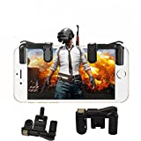 ZARLLE Mobile Game Joystick Player Unknown's Battlegrounds Eat Chicken Artifact, Phone Mobile Gaming Trigger Fire Button para L1R1 Shooter Controller Pubg (2 Generaciones (Talla única, Negro)