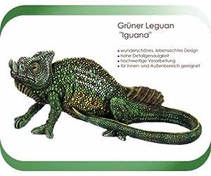 Grüner Leguan IGUANA Echse Eidechse Chamäleon Skulptur