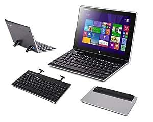 Supremery Bluetooth Tastatur Keyboard mit eingebauter Standfunktion (schnurlos) für MAC OS, Windows 10/ 8/ 7, IOS 9 / 8, Android (QWERTZ, deutsches Tastaturlayout)