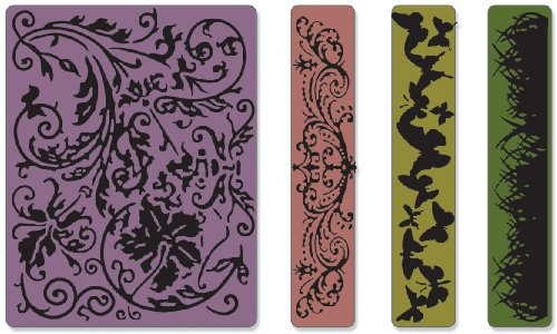 Sizzix Sizzlits a lfabeto Set di 12 Fustelle, Lettere Maiuscole a ntiche, Acciaio Inossidabile, Bianco, 17X16X2.5 cm