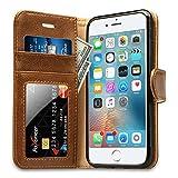Labato Handytasche iPhone 6 6s Schutzhülle aus Echt Leder Bookstyle Hülle für i Phone 6 6s Zubehör braune Case Lbt-I6S-07Z20