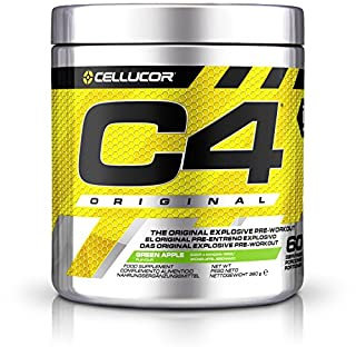 Cellucor C4 Original Pre Workout Powder Energy Drink for Men & Women with Creatine, Caffeine & Beta Alanine, Green Apple, 60 Servings