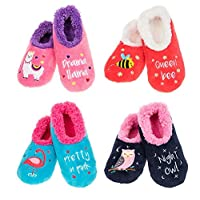 Snoozies Creature Comforts Fun Fleece Slippers