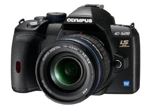 Olympus E-520 SLR-Digitalkamera (10 Megapixel, LifeView, Bildstabilisator) Gehäuse (Digitale Slr-kameras Von Olympus)