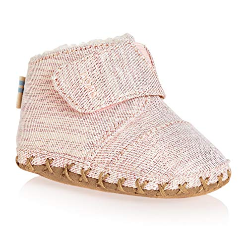 09dc35c8272 TOMS Layette Twill Glimmer Baby Toddler Shoes UK 1.5 (Infant) Rose Cloud