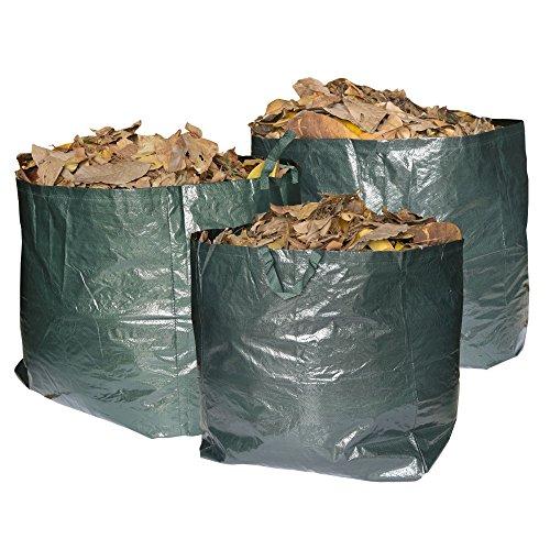 Garden Waste Bags Premium Set of 3 Reusable Bags