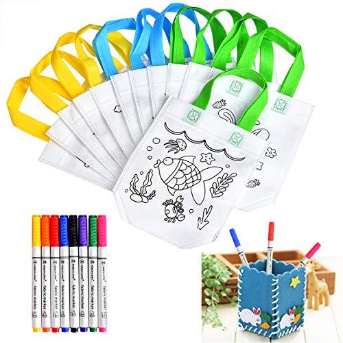 Queta Bolsas Colorear DIY Bolsas Infantiles Colorear