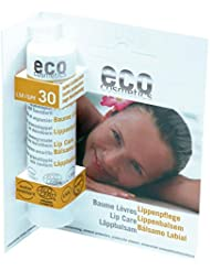 eco cosmetics Lippenpflegestift LSF 30 2er-Pack (bio, Naturkosmetik) Lippenbalsam 2x 4 g