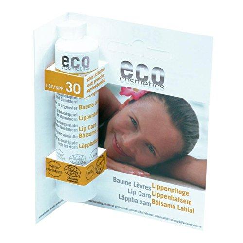 Eco Cosmetics Baume SPF 30 Pack de 2 (Lèvres Bio Baume à lèvres cosmétique naturel) 2 x 4 g