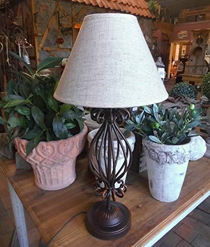 LANDHAUS LAMPE TISCHLAMPE LANDHAUSSTIL METALL TISCHLEUCHTE 52cm H. KOLONIALSTIL WO-1016