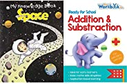 Space - My Knowledge Book + Addition & Subtraction - Ready for School (Set of 2 Bo