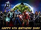 Glaçage comestible personnalisable pour gâteau d'anniversaire - Avengers