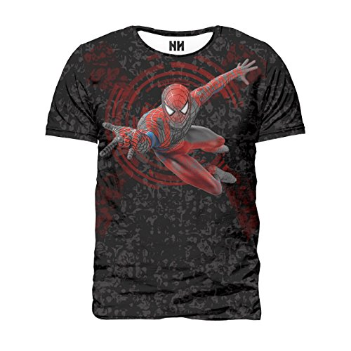 Noorhero - T-Shirt Uomo - Spider Man Black Costume