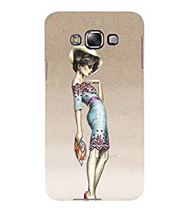 Fashion Girl 3D Hard Polycarbonate Designer Back Case Cover for Samsung Galaxy E7 :: Samsung Galaxy E7 E700F (2015)