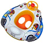Sosoga Swimming Baby Float Boat With Steering Handle Multi Colour (Leg Space Given)