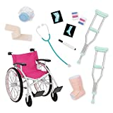 Our Generation Medical Set avec Chaise à roulettes, Couleur Unique, bd37432z