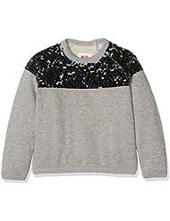 Unbekannt Mädchen Sweatshirt Glitter C-Neck Sweater Blue