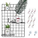 DIY Eisen Gitter der Foto Wand Dekoration Plaid Foto an der Wand Hängen in der Familie, Küche, Büro und so weiter ( 65 * 45cm)Schwarz