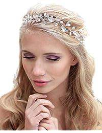 gracewedding Fashion cristales diadema novia boda tocado accesorios