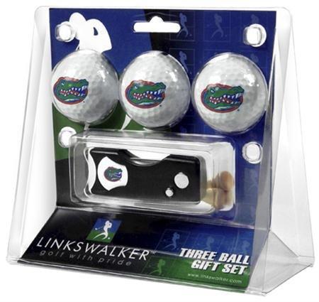 Florida Gators Golf Ball Geschenk Pack mit Spring Action Pitchgabel -